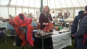 Demonstration in the Art and Craft and Cake tent at the Dilwyn Show