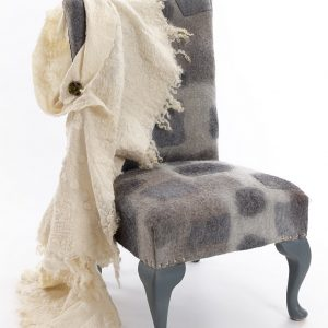 Felt-covered chair and felt shawl